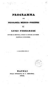 Programma di psicologia medico-forense di Luigi Ferrarese