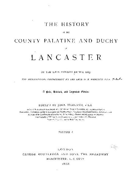 Download The History of the County Palatine and Duchy of Lancaster Book