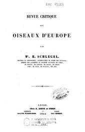 Kritische Übersicht der Europäischen Vögel