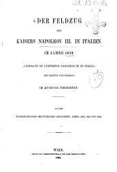 Der Feldzug des Kaisers Napoleon 3. in Italien im Jahre 1859