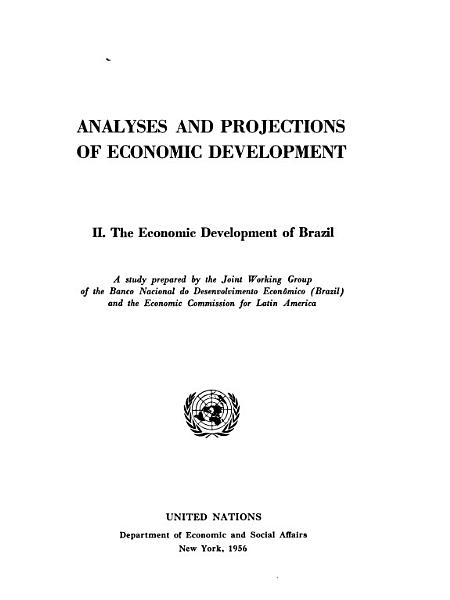 Analyses And Projections Of Economic Development