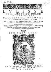 L' Ulisse, tratto dall'Odissea d'Homero et ridotto in ottava rima (etc.)