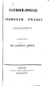 Pathologiae sermonis Graeci prolegomena
