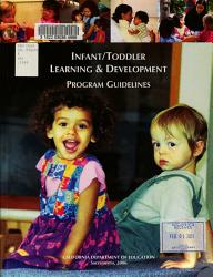 Infant Toddler Learning Development Program Guidelines Book PDF