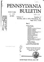Pennsylvania Bulletin PDF