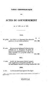 Bulletin officiel des actes du gouvernement: Volumes17à18