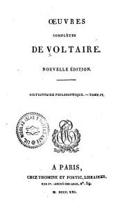 Oeuvres complètes de Voltaire: Dictionnaire philosophique