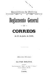 Reglamento general de correos de 10 de julio de 1908