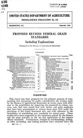 Proposed revised federal grain standards, including explanations