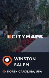 City Maps Winston-Salem North Carolina, USA