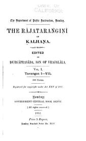 The Râjatarangini of Kalhaṇa: Volumes 1-3