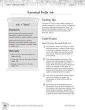 Content-Area Vocabulary Level 3--Numerical Prefix tri-