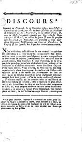 Discours prononcé en flamand, le 25 novembre 1789, dans l'église cathédrale de Gand, par Mr. de Bast ... en action de grace & la prospérité des armes des Pays-Bas ...