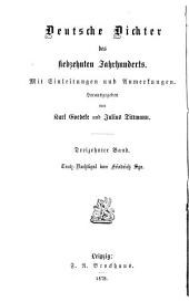 Deutsche Dichter des siebzehnten Jahrhunderts: Mit Einleitungen und Anmerkungen, Band 13
