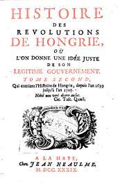 Depuis l'an 1699 jusqu'à l'an 1705