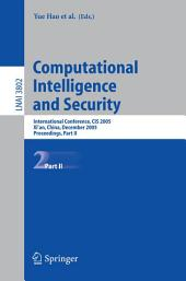 Computational Intelligence and Security: International Conference, CIS 2005, Xi'an, China, December 15-19, 2005, Proceedings, Part 2
