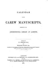Calendar of the Carew Manuscripts: Book of Howth. The conquest of Ireland