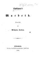 Shakespeare s Macbeth  Deutsch von Wilhelm Jordan PDF