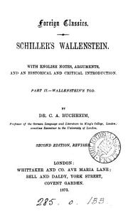 Schiller s Wallenstein  with Engl  notes  arguments and an intr  by C A  Buchheim PDF