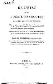 De l'état de la poésie françoise dans les 12. et 13. siècles ... par B. de Roquefort-Flamericourt