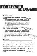 Argumentation and Advocacy