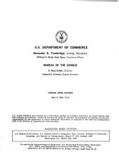 U.S. General Imports: Geographic area, country, schedule A commodity groupings, and method of transportation, Volume 3