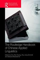 The Routledge Handbook of Chinese Applied Linguistics PDF