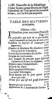 Nouvelles de la republique des lettres: Volume4