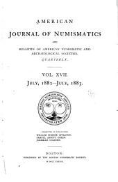 American Journal of Numismatics: Volumes 17-18
