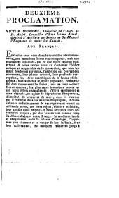 Tweede proclamatie: Victor Moreau