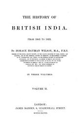 The History of British India: Volume 8