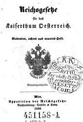 Reichsgesetze für das Kaiserthum Österreich