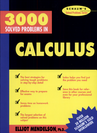 3000 Solved Problems in Calculus PDF