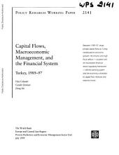 Capital Flows, Macroeconomic Management, and the Financial System: The Turkish Case, 1989-97