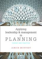 Applying leadership and management in planning PDF