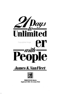 21 Days to Unlimited Power with People