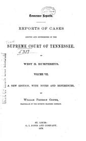 Reports of Cases Argued and Determined in the Supreme Court of Tennessee: Volume 26