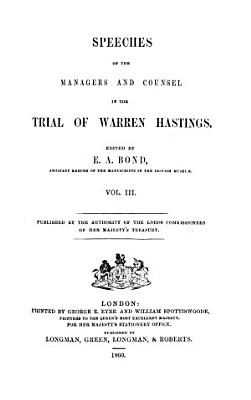 Speeches of the managers     in the trial of Warren Hastings PDF