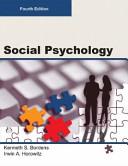 SOCIAL PSYCHOLOGY  Fourth Edition  Paperback 4C  PDF