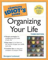 The Complete Idiot s Guide to Organizing Your Life PDF