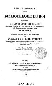 Essai historique sur la Bibliothèque du roi aujourd'hui Bibliothèque impériale