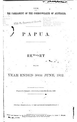 Annual Report of the Territory of Papua PDF