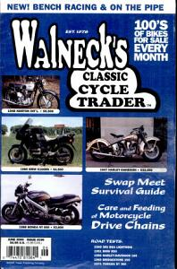 WALNECK S CLASSIC CYCLE TRADER  JUNE 2000 Book