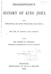 Shakespeare's History of King John