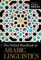The Oxford Handbook of Arabic Linguistics PDF