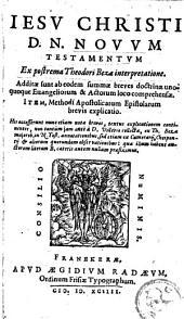 Jesu Christi D. N. Novum Testamentum