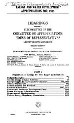 Energy and Water Development Appropriations for 1985