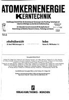 Atomkernenergie Kerntechnik PDF