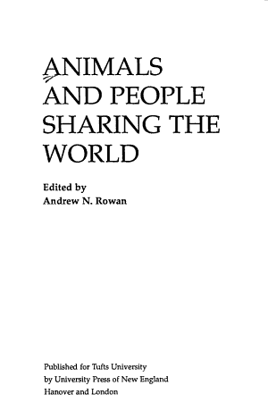 Animals and People Sharing the World