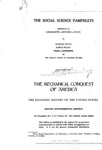 Social Science Pamphlets  Essentials in Geography  history  civics  The eighth grade series  no  2  The mechanical conquest of America PDF